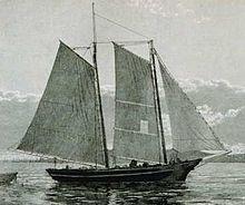 goélette de pêche à voile aurique